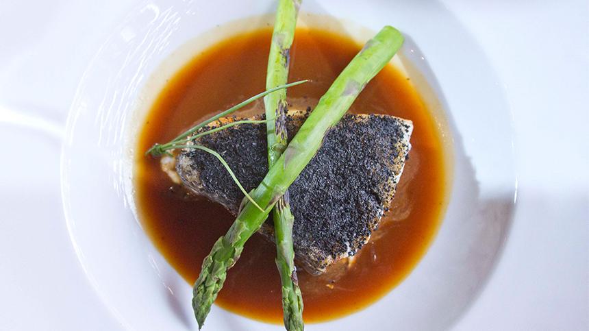 Sea Bass with Crusted Corn By Martin del Campo