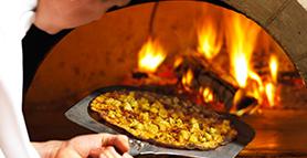 Wood-Fired Pesto Rotisserie Chicken Pizza