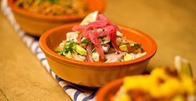 Market Ceviche and Guacamole
