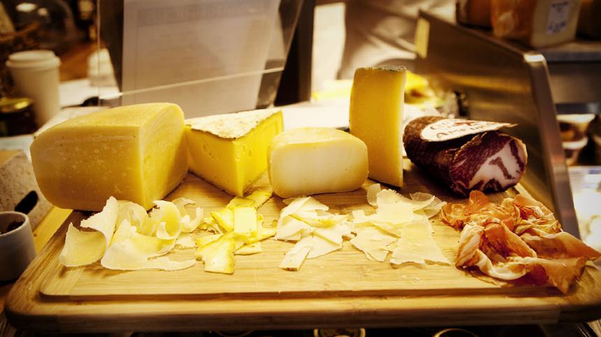 Piave Vecchio And Fiore Sardo Cheeses