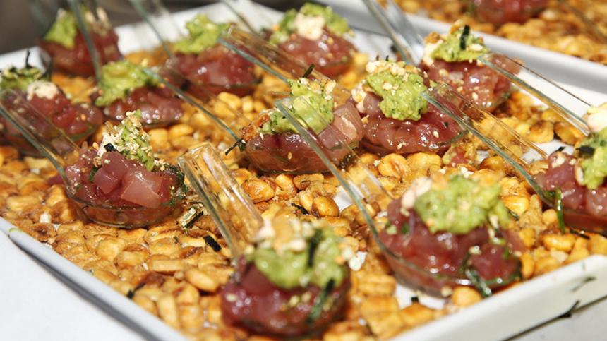 Tuna and Avocado Tostadas