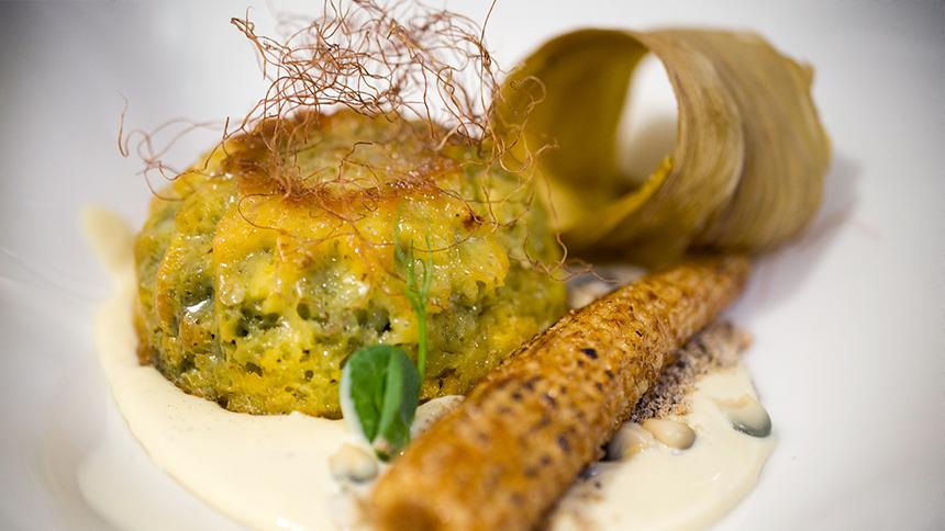 Blue Corn Cake with Mystical Sauce By Dulce Patria