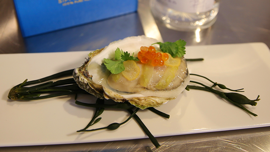 Oyster and Xoconostle By Aperi