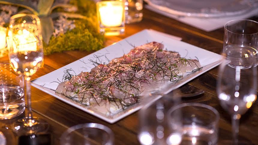 Sashimi Style Bass with Radish and Sesame By David Kinch of Manresa and Carlo Mirachi