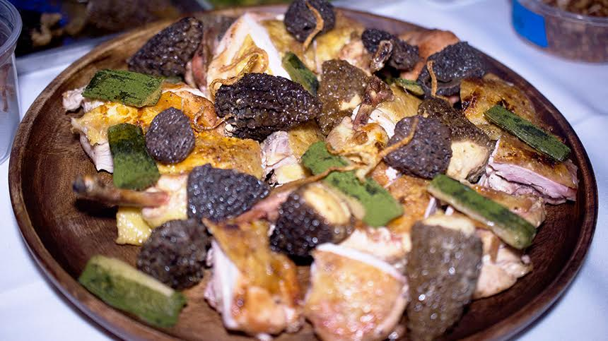 Grilled Chicken and Morels with Bagna Cauda Sauce By David Kinch and Carlo Mirarchi