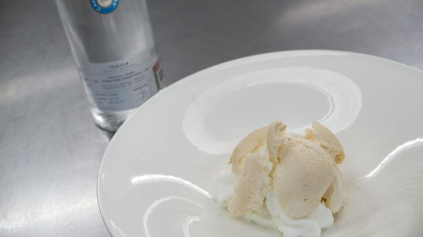 Vanilla Ice Cream with Milk Tuiles By Elena Reygadas