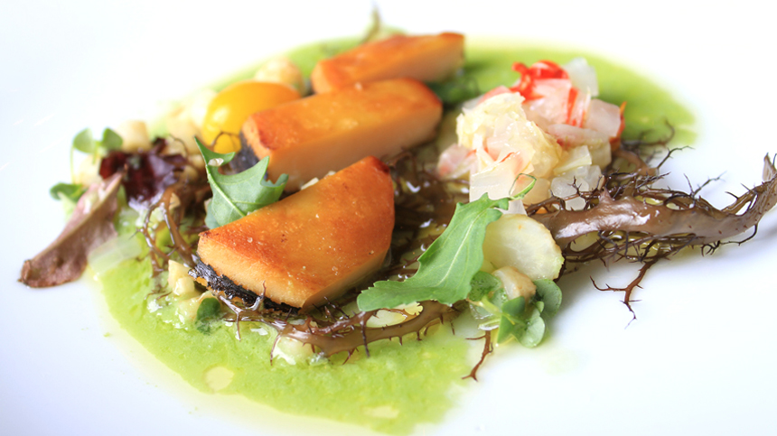 Abalone with Tomatillo Juice