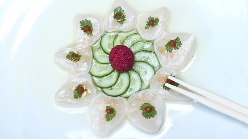 Sashimi de Callo de Hacha
