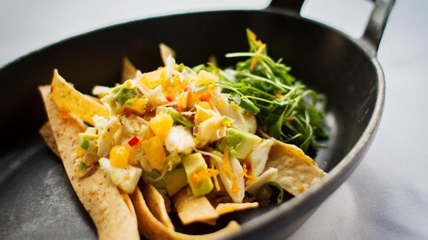 Ceviche de Cangrejo con Jitomate Amarillo