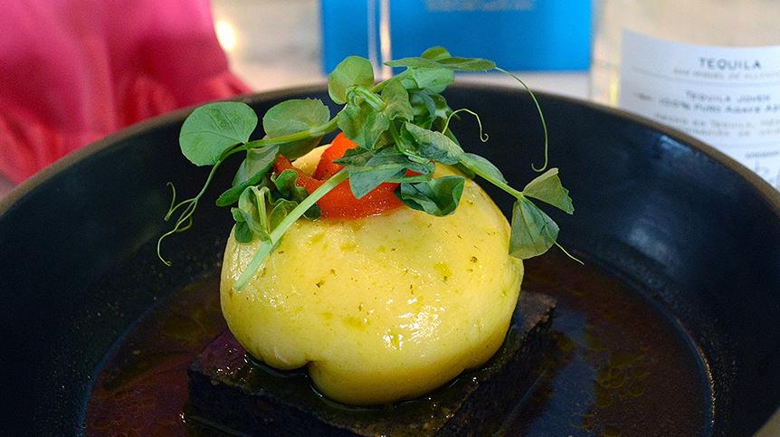 Dumpling de Queso Adobera con Hongos