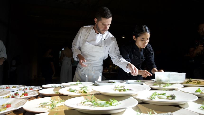 Una Cena con chef Olivier Deboise-Méndez