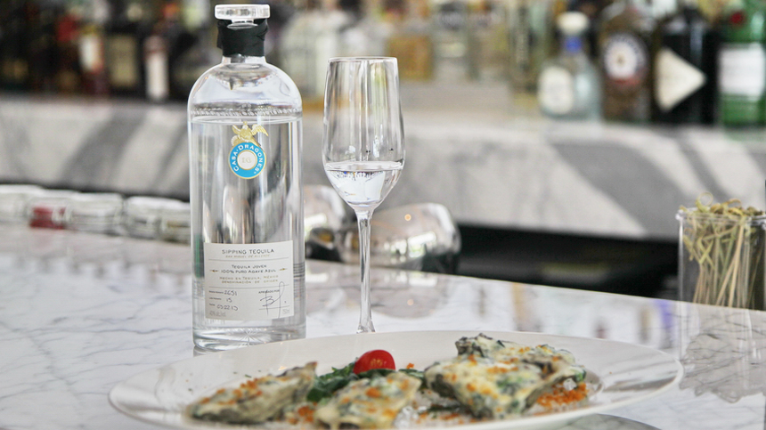 oysters with tequila