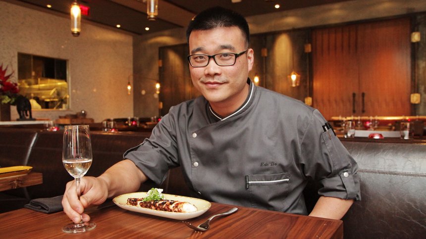 Chef Eric Do with Tequila Casa Dragones