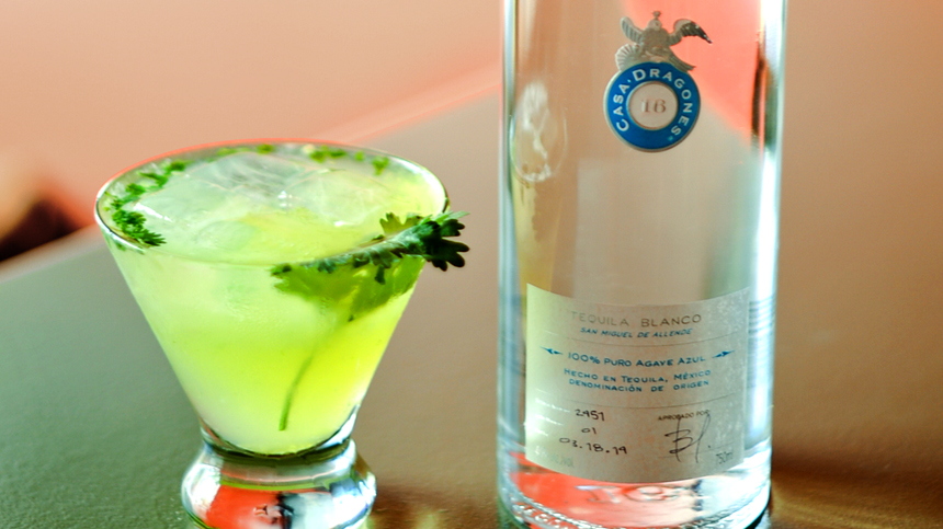 Incredible Hulk Tequila Cocktail Made With Casa Dragones