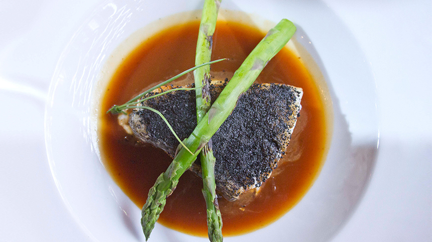Sea Bass with Crusted Corn By Martin del Campo