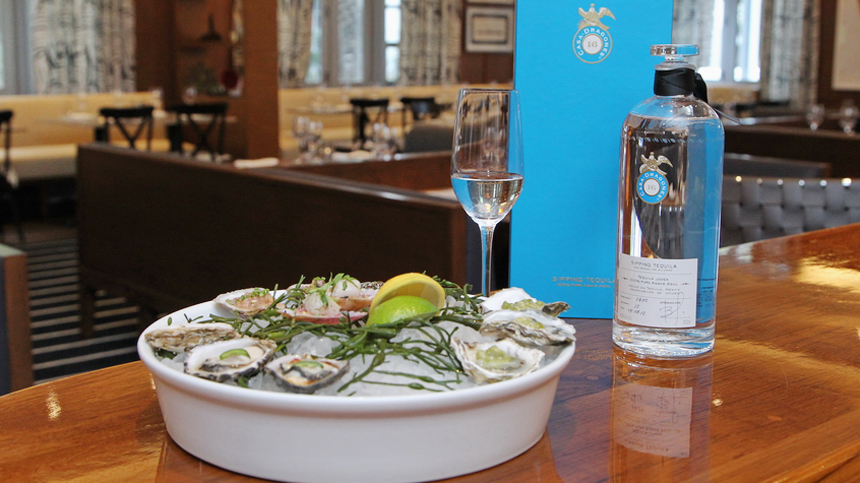 Dressed Oysters with Tequila Casa Dragones