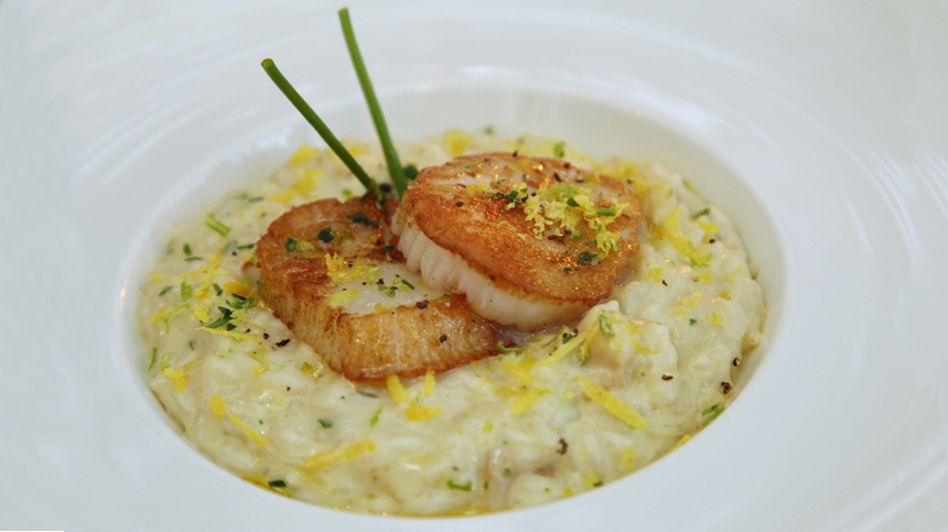 Risotto with Sea Scallops By Simone Mua