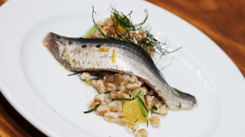 Rosetta's Sardines with Spelt and Orange