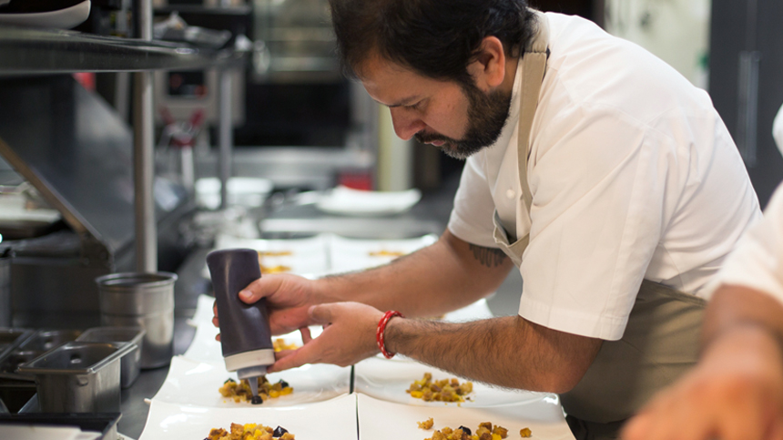 Chef Enrique Olvera at work