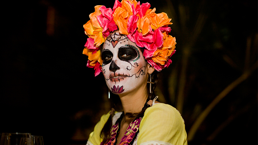 Woman In Day Of The Dead Makeup