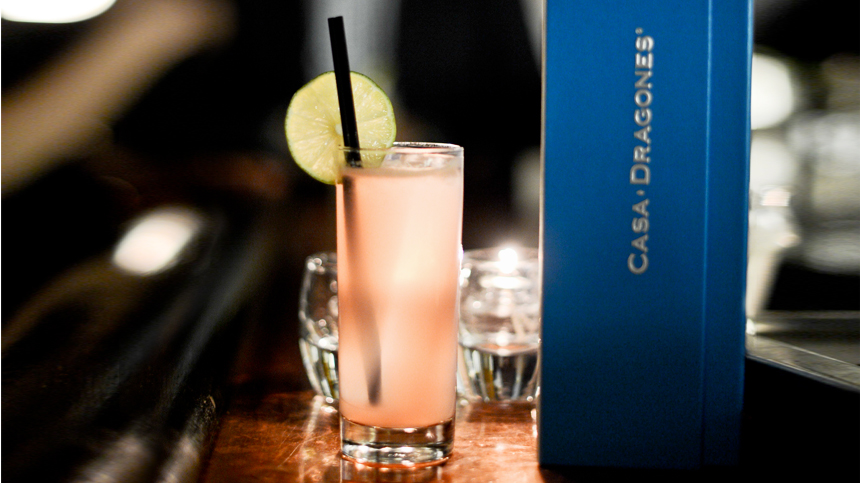 pink panther drink with casa dragones