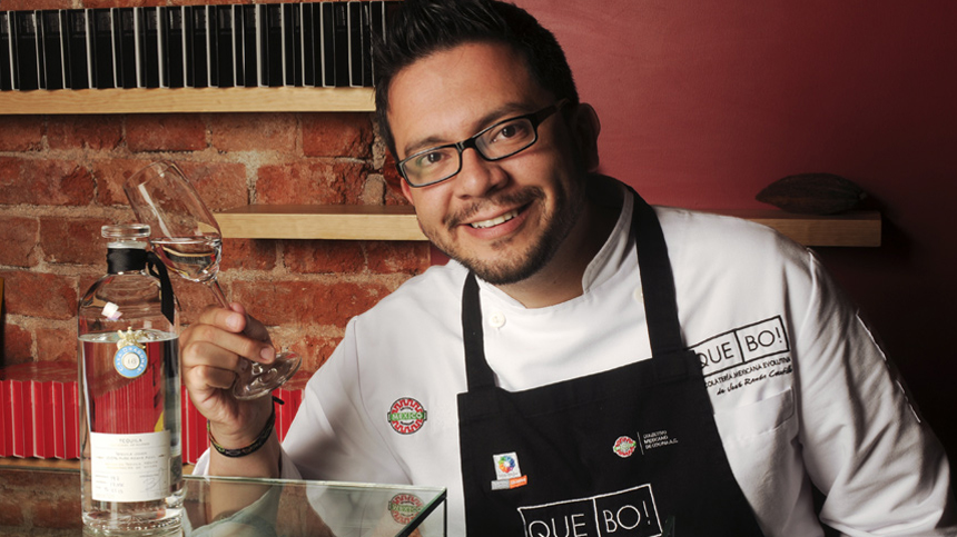 Chef Ramon Castillo with Tequila Casa Dragones