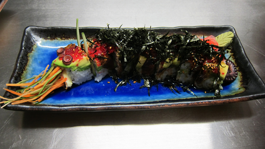 Top Tequila Food Pairings: Caterpillar Roll Sushi