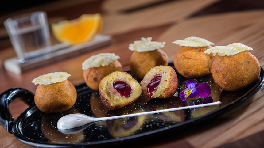 new tequila food pairings: fried plantain balls