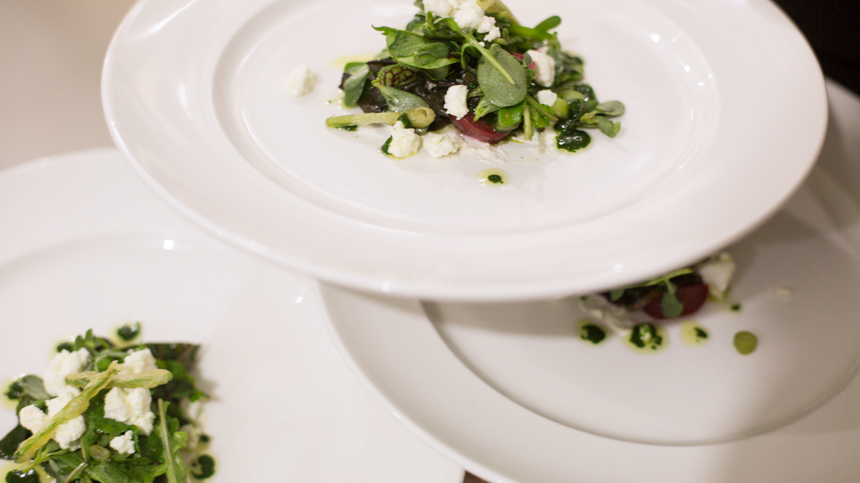 Tequila food pairings: Green Bean and Arugula Salad