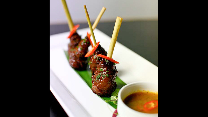 Lemongrass Beef Lollipops