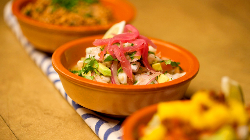 Market Ceviche - food pairing with tequila