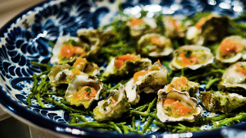 Tequila Food Pairing - Pickled Oysters