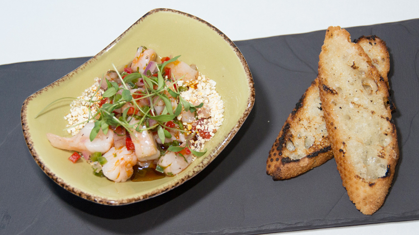 Shrimp Ceviche - Food Pairing with tequila