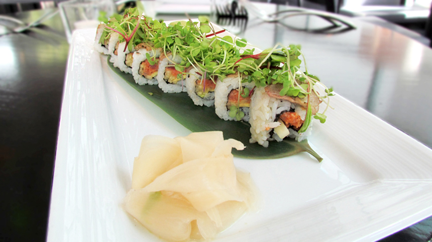 Surf and Turf Sushi Roll - food pairing with Tequila Casa Dragones