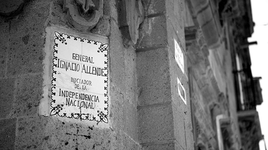 General Ignacio Allende plaque