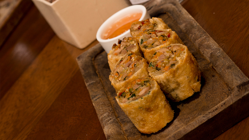 Duck and Vegetable Rolls By Donnie Masterton