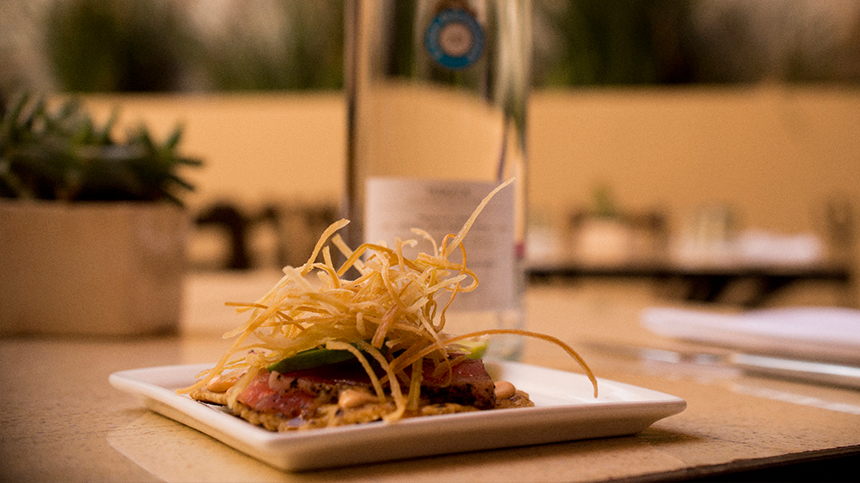 Tequila food pairings: tuna tostadas