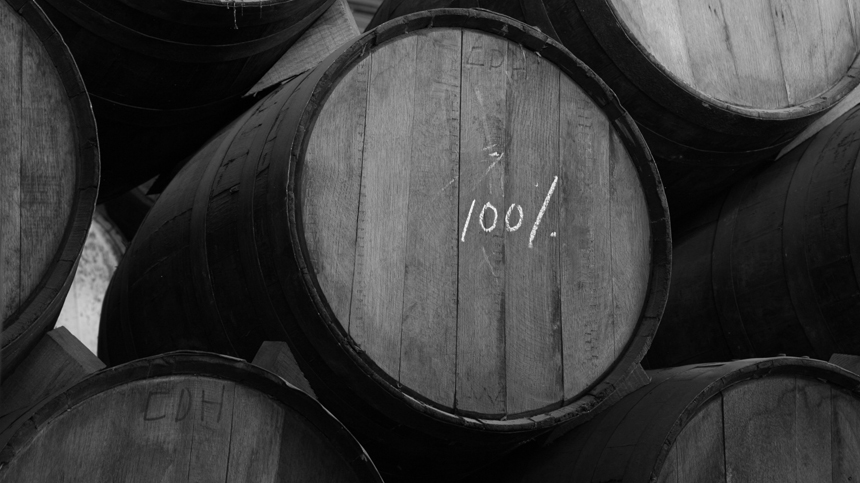 A New American Oak barrel, which our Small Batch Sipping Tequila rests inside