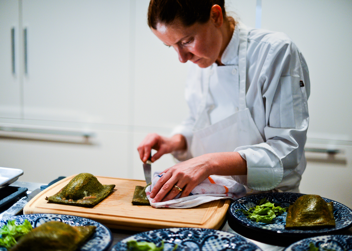 Chef Elena Reygadas at work