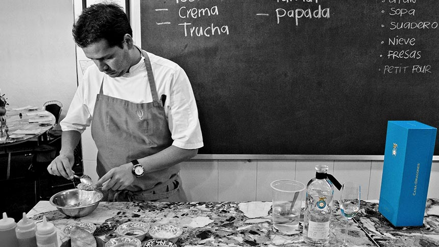 chef preparing food pairing with tequila
