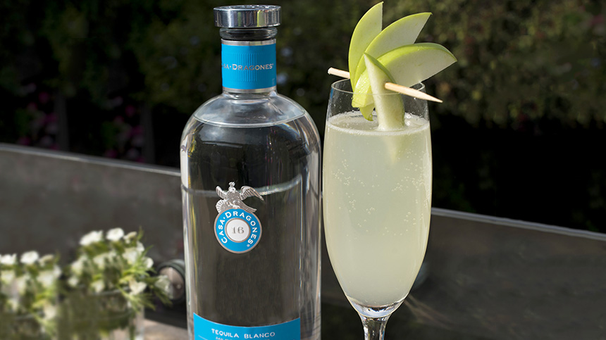 lime mexican tequila cocktail with casa dragones blanco