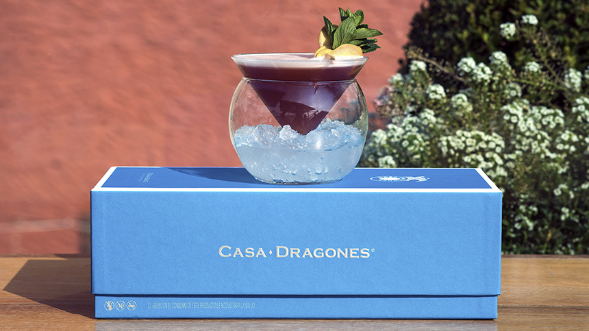 Created by Quince Rooftop in San Miguel de Allende, the Royal Sour cocktail is made with Tequila Casa Dragones Blanco.