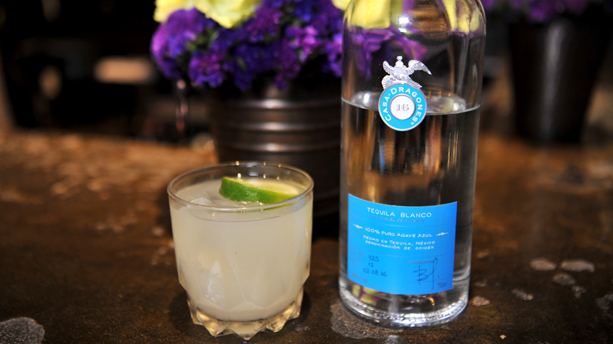 Ultimate margarita by Marc Forgione restaurant using Tequila Casa Dragones Blanco