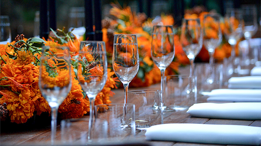 Muerte Elegante Pairing Table Dinner for Day of the Dead