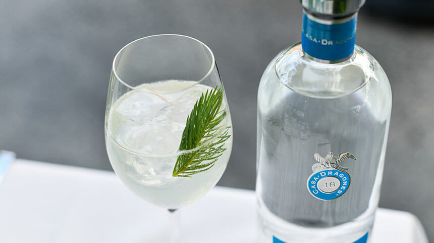 Spruce and Tequila Spritz