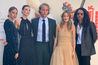 An exciting evening at the Venice Film Festival